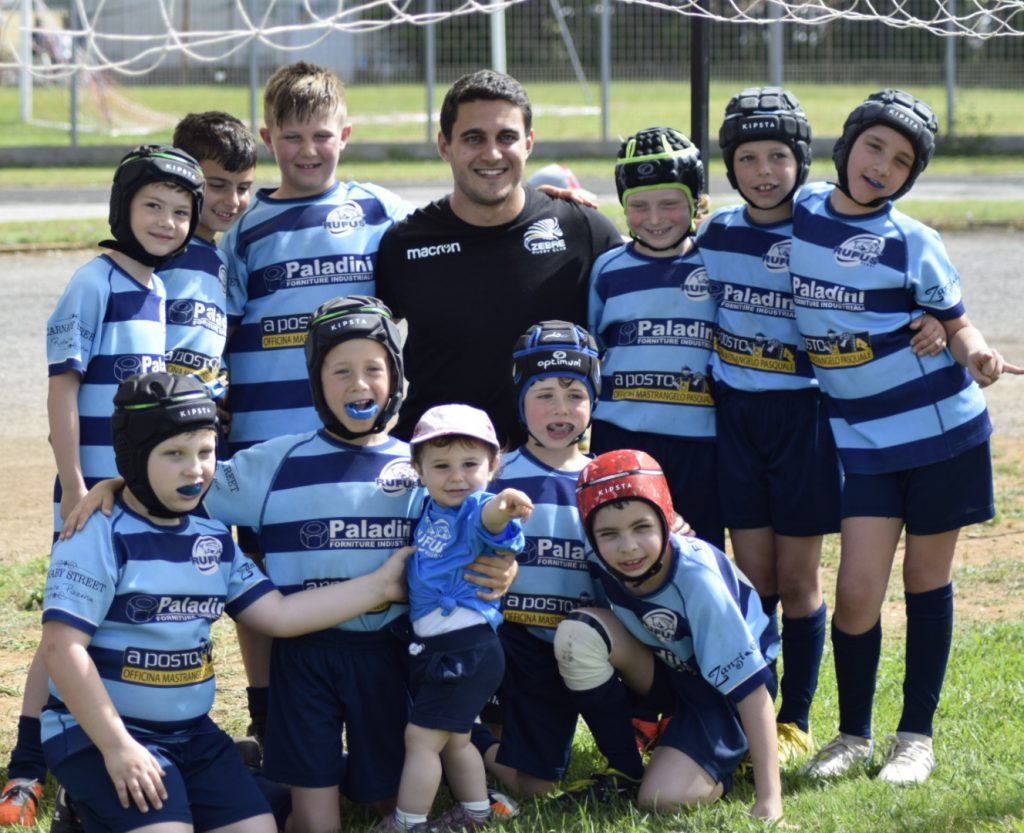 I bambini dell'Under 8 del Rugby Rufus